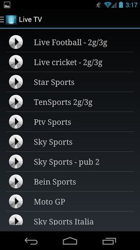 Watch Live online TV on your phone for Free*** ( works in both 2G/3G quality )<br>Watch Live Cricket , Football and all other sports channels with non - stop streaming in all networks and in an impressive quality.<br>The Implausible design of the app provides much awesome experience to navigate through different channels.<p>Channels Provided:-<p>• Special FIFA Streaming <br>• IPL Streaming<br>• Sky Sports<br>• Sky Sports F1<br>• Sky Sports News<br>• Racing UK<br>• Eurosports<br>• Bein…