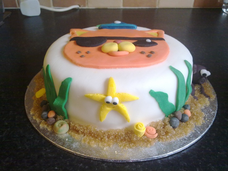 Very proud of this one. A Kwazzi cake for my little boys 3rd birthday.