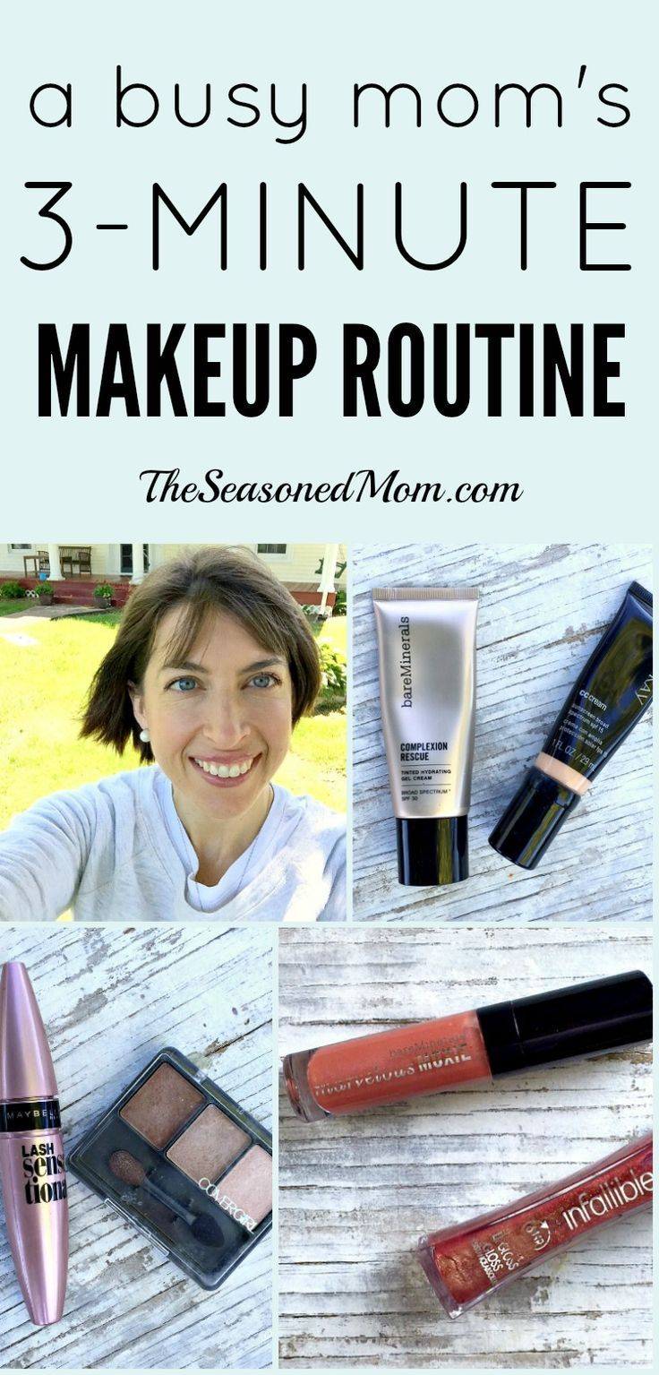 This Busy Mom's 3-Minute Makeup Routine is fast, easy, affordable, and effective! Great tips!!