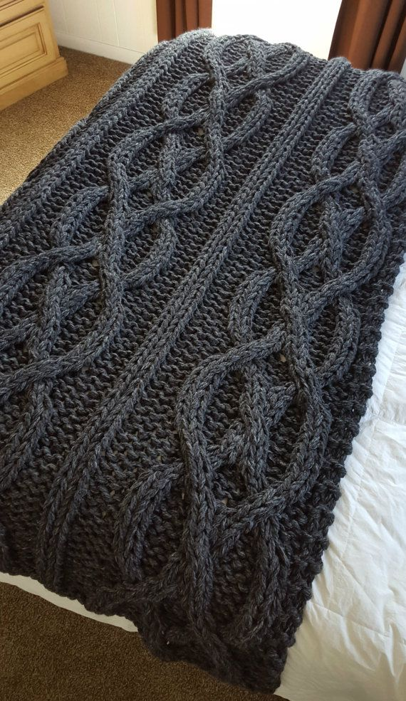 SALE  Luxury Oversized Cable Knit Blanket Ready To by OzarksMomma