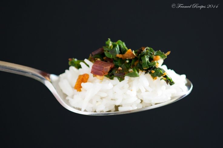 Beetroot Leaves Poriyal - Framed Recipes.  Do not throw away the lovely beet greens. Use them in this delightful stir fry -  called Poriyal in Tamil. Enjoy it with some hot steamed rice.