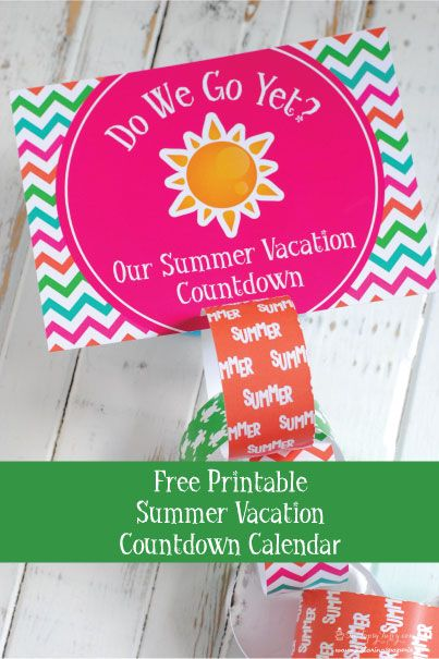 Free printable summer travels countdown calendar by Katarina's Paperie