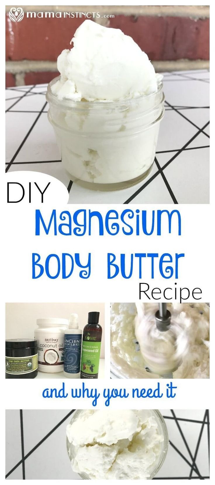Most people have deficient magnesium levels. Try this easy magnesium body butter recipe to improve your overall health, especially if you suffer from migraines, are pregnant, have a hard time sleeping and have muscle pain. All these are signs in your body that you need more magnesium.