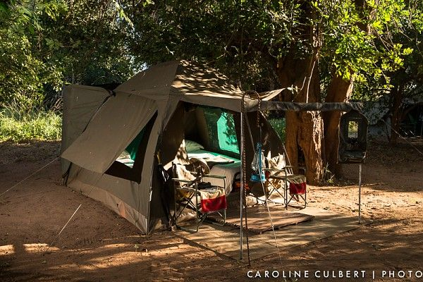 Dome tent on the Pafuri Walking Trail #KrugerNationalPark