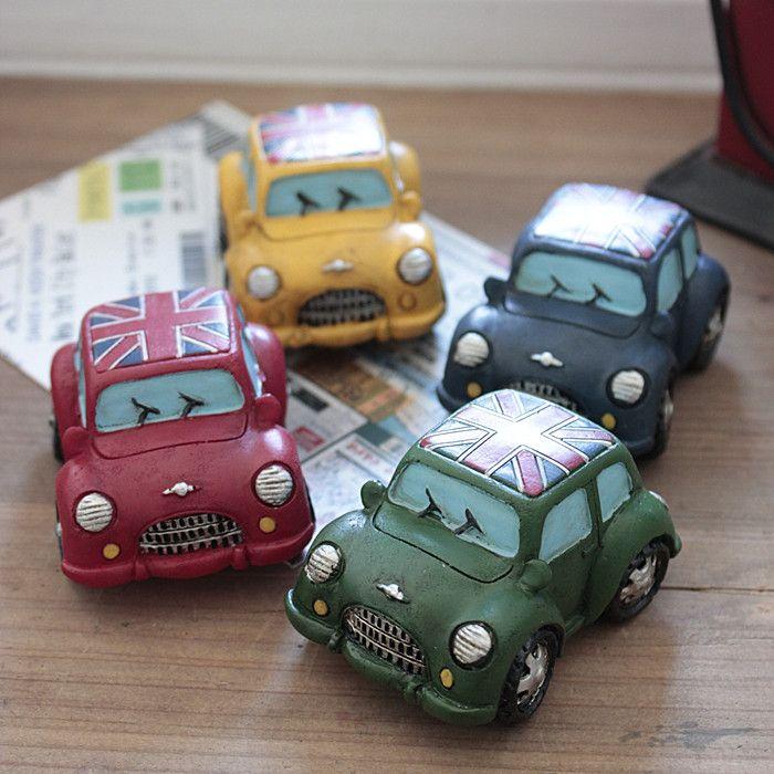 4 Stks/leuke retro Vintage classic/mini beatles auto/thuis Kerst decoratie/gift/ambachten/fairy tuin/terrarium/poppenhuis(China (Mainland))