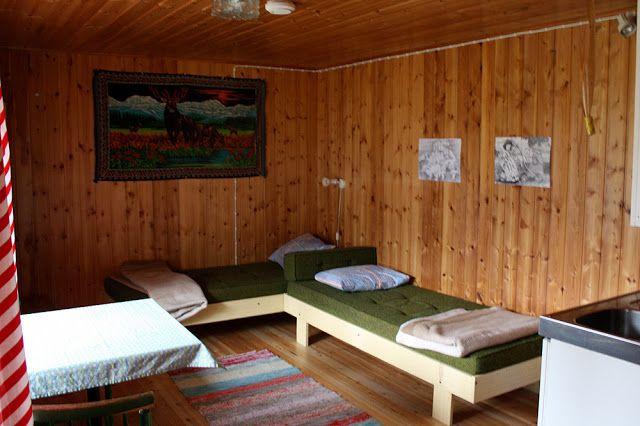 Kuusamossa ollessamme yövyimme mökissä Matkajoen leirintäalueella.