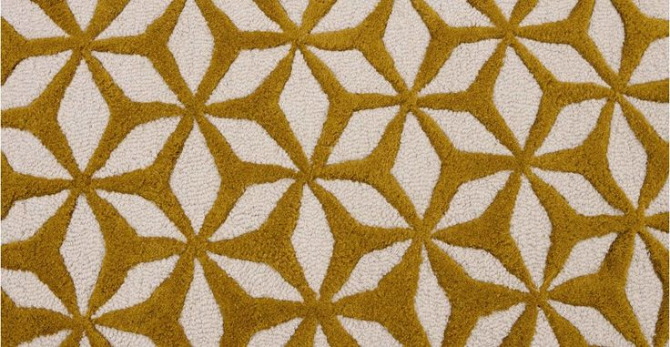 Stella Tufted Rug 160 x 230cm, Chartreuse | made.com