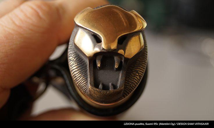 Lion head knife (Leijonapuukko) by Marttiini knife factory. Design Sami Viitasaari