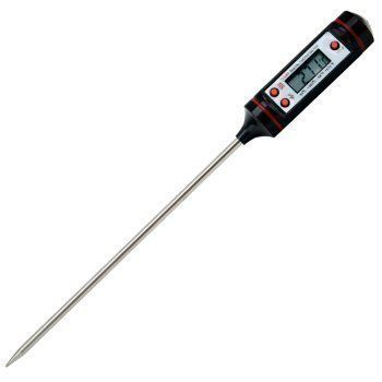 Kitchen Thermometer Digital, MANLEHOM Fast Instant Read BBQ Thermometer with Long Probe for Food Cooking Cake Coffee Black