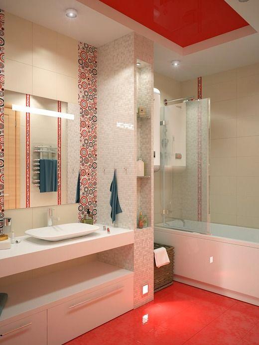 Красная ванная. Ванная