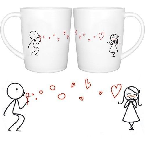 Coffee Mugs Set For Valentines Day Gift Anniversary Gifts Couple