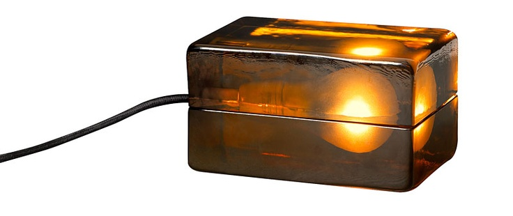 Block Lamp Amber by Harri Koskinen - This comes in clear glass too, but I'm drawn to this one.