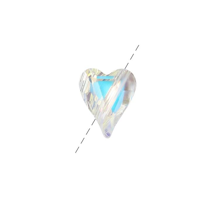 5743 Swarovski Wild Heart Bead Crystal AB 12mm pk1