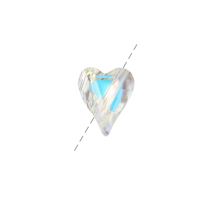 5743 Swarovski Wild Heart Bead Crystal AB 12mm pk1