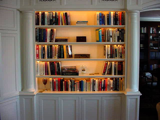 Nice. Lighting in the bookshelves. http://www.tprlighting.com/pages/products/cabinet.html