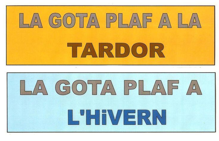 EL CICLE DE L'AIGUA. LA GOTA PLAF TARDOR I HIVERN