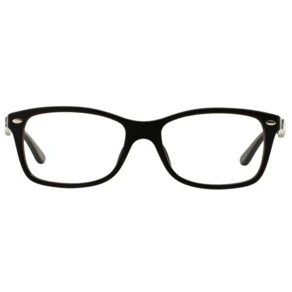 Ray-Ban Asian Fit RX5228F Unisex Eyeglasses ($180) ❤ liked on Polyvore featuring accessories, eyewear, eyeglasses, black, ray ban eyewear, ray ban glasses, ray ban eye glasses, ray-ban and ray ban eyeglasses
