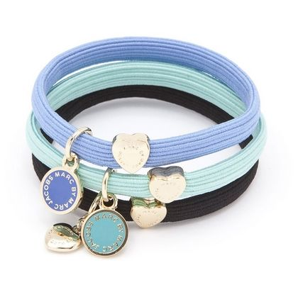 To fancy up my ponytails...Marc by Marc Jacobs Classic Marc Ponys hair elastics in Aqua Lagoon