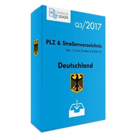 PLZ & Straßenverzeichnis Deutschland Download CSV - Enthält alle Straßennamen, Postleitzahlen, Ortsnamen und Ortsteile in Deutschland. Ideal für Adressabgleich, Plausibilitätsprüfung, Adressvervollständigung, Suchmaschinenoptimierung (SEO), Online-Anwendungen aber auch Offline-Software.