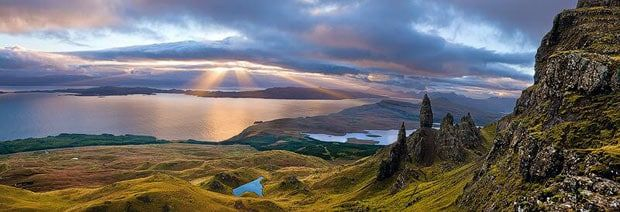 Sunrise over the Old Man of Storr, Isle of Skye, Scotland by Emmanuel Coupe Landscape Photographer of the Year 2009 – Overall winner  A view over the Isle of Skye has taken the top prize in this year's search for the Landscape Photographer of the Year. Parisian-born, Emmanuel Coupe becomes the third person to win this prestigious award and the £10,000 prize.  Sunrise over the Old Man of Storr, Isle of Skye, Scotland by Emmanuel Coupe: Landscape Photographer of the Year 2009 – Overall winner