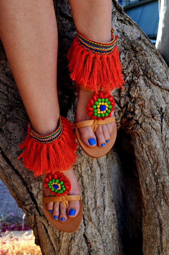 Boho Sandals/ Leather sandals/Handmade by DriftersnDreamers