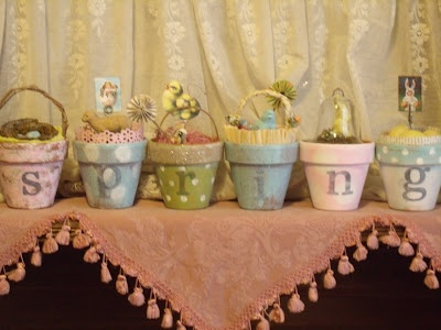 Spring time pot display