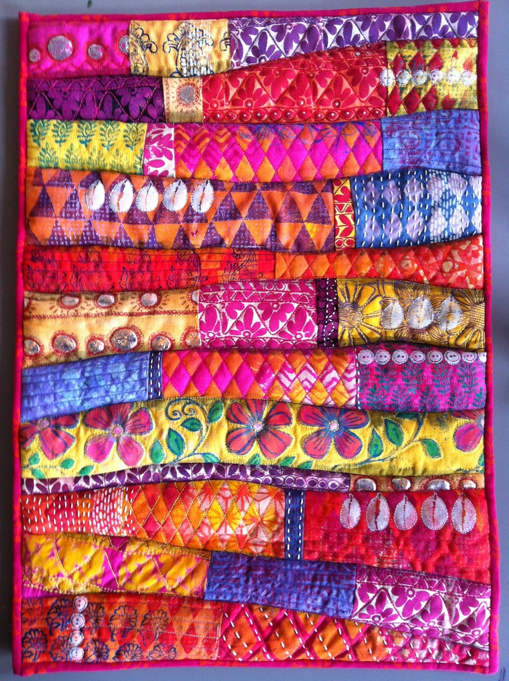 Indian Quilts - NOT a quilt but a quilted wall hanging!! Quilty fun!!