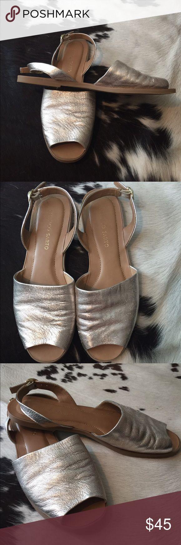 Franco Sarto sandals Gently worn Franco Sarto silver soft leather sandals. Franco Sarto Shoes Sandals