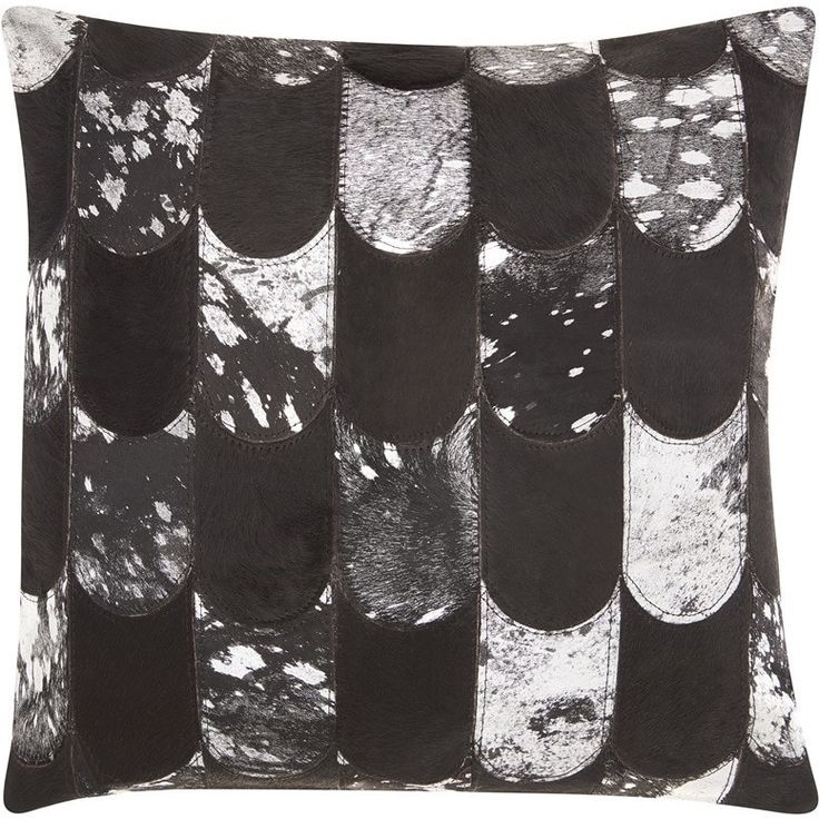 "Kathy Ireland Lady Fingers Black/Silver Throw Pillow (20"" x 20"") (Black/Silver, 20"" x 20""), Size 20 x 20"