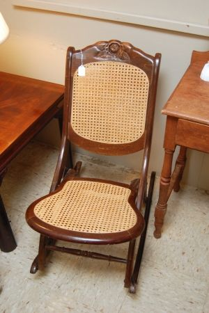 Folding Rocking Chair Antique Furniture In 2019 Chair