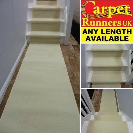 Best Cream 60Cm 70Cm Wide Modern Long Carpet Runner 400 x 300