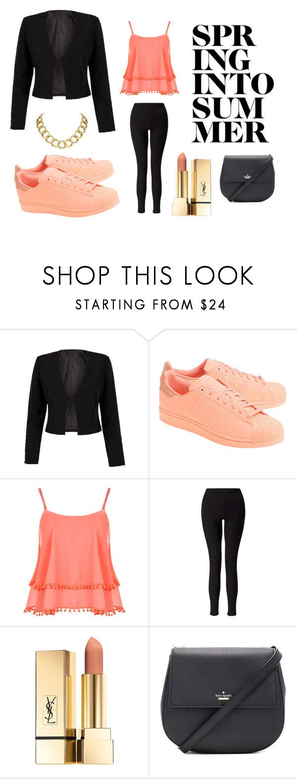 """""""Sin título #2"""" by sofia-c-lopez on Polyvore featuring moda, WithChic, adidas Originals, WearAll, Miss Selfridge, Kate Spade y House of Harlow 1960"""