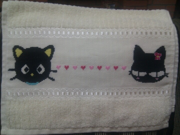 Choco Cat - Cross stitch