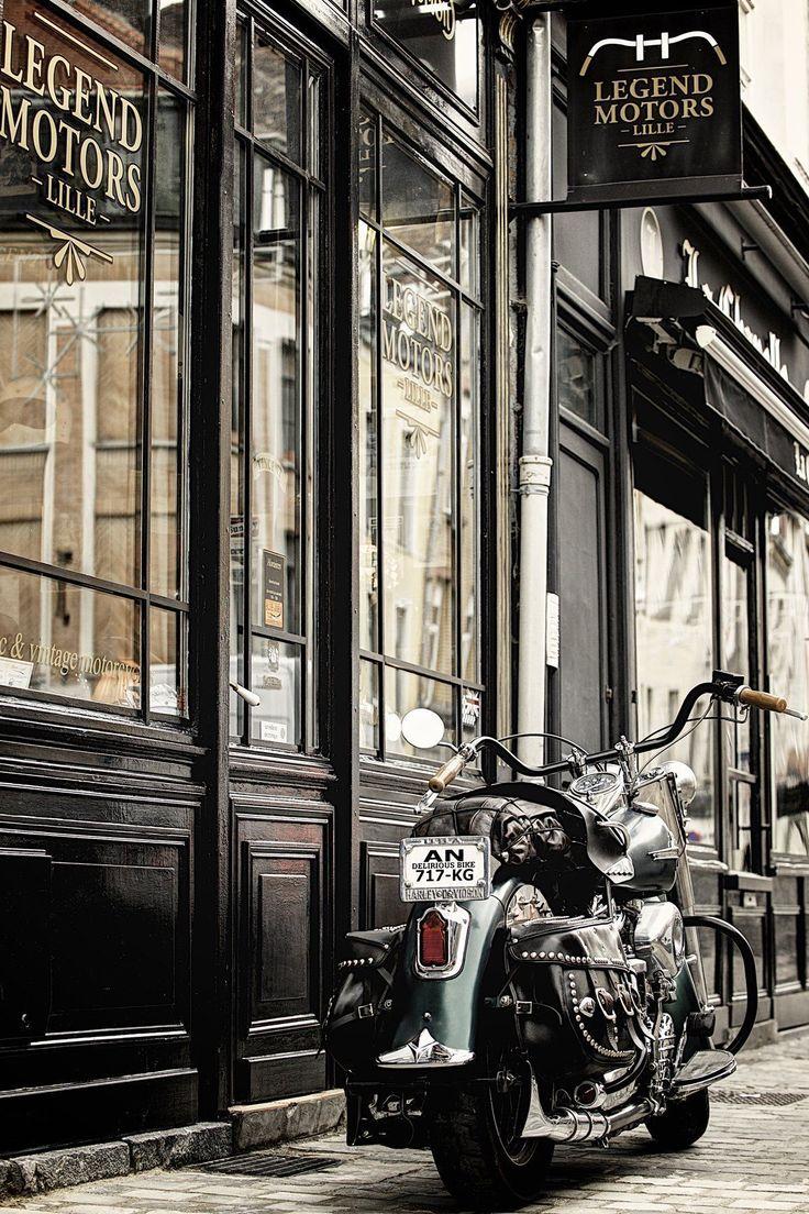 Harley-Davidson Panhead 1954, à vendre chez Legend Motors Lille. #harleydavidsoncustom #harleydavidsonbikes