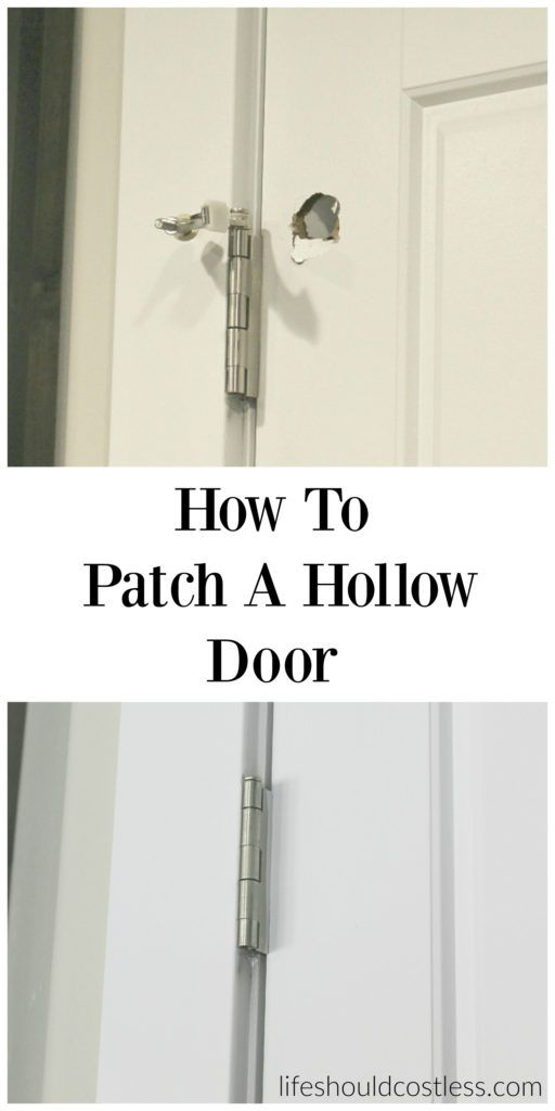 How to patch a hollow door. Save yourself some cash by repairing instead of replacing your broken doors.