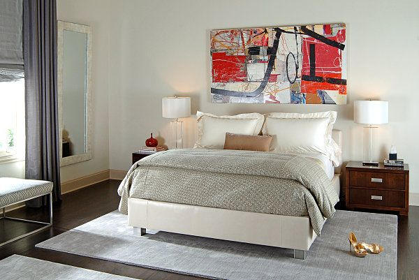 Luxurious Decadent Jewel Toned Bedrooms: Decadent Ruby Red Artwork ~ kateobriens.com Bedroom Inspiration