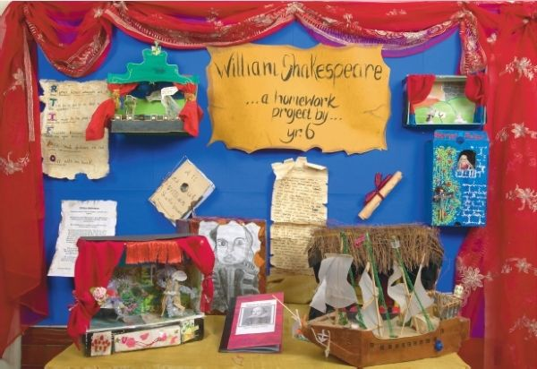 a shakespeare story box created by a group of year 6