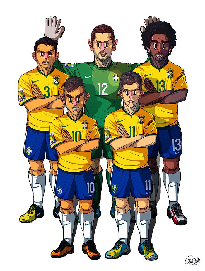[2014 World cup Edition] A team : Brazil by sakiroo.deviantart.com on @deviantART