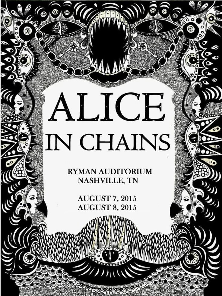 Alice in Chains lithograph