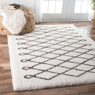 Awesome Shop For NuLOOM Soft And Plush Cloudy Shag Diamond Brown Rug (8u0027 X 10