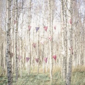 Vlaggetjes slinger mix pink van Numero 74