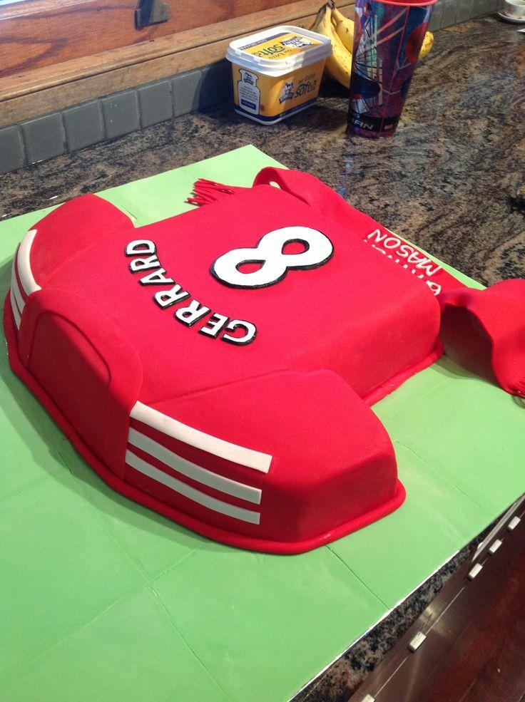 Liverpool Football Jersey Cake