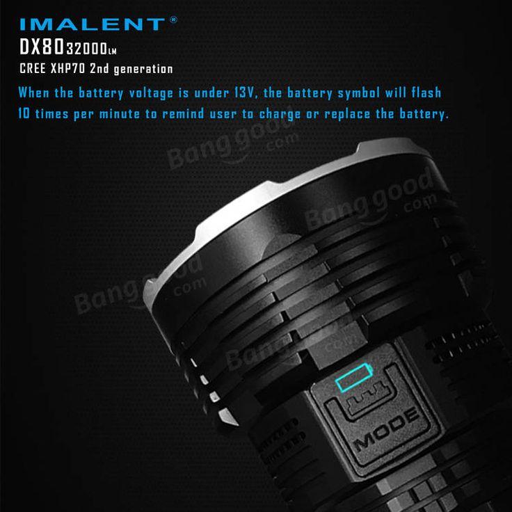 IMALENT DX80 8x XHP70 2nd Generation 32000LM Outdooors Search LED Flashlight 806M