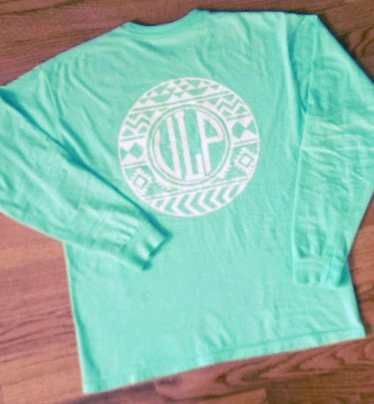 Comfort Colors Aztec Pocket Monogram T-Shirt by TeePartyBoutiqueByV on Etsy