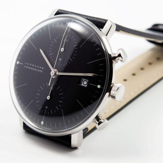 Max Bill Chronoscope noir - Junghans #watches #design: