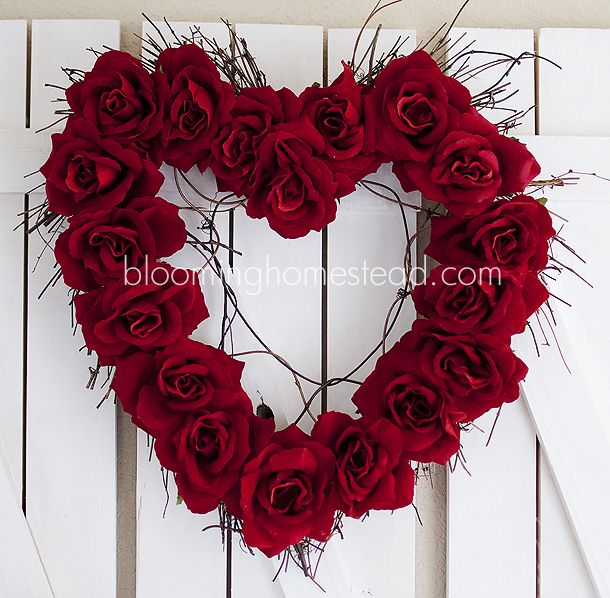 Blooming Homestead: Valentine Wreath {DIY}