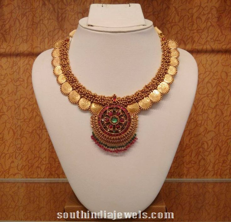 Clustered beads coin necklace from NAJ
