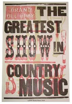 The Greatest Show in Country Music Hatch Show Print