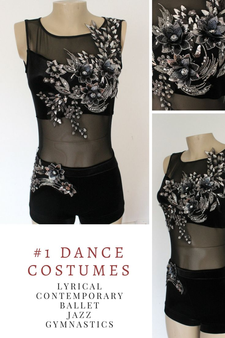 Absolutely stunning lyrical or contemporary dance solo costume. No two are the same. Unique handcrafted piece of art.
