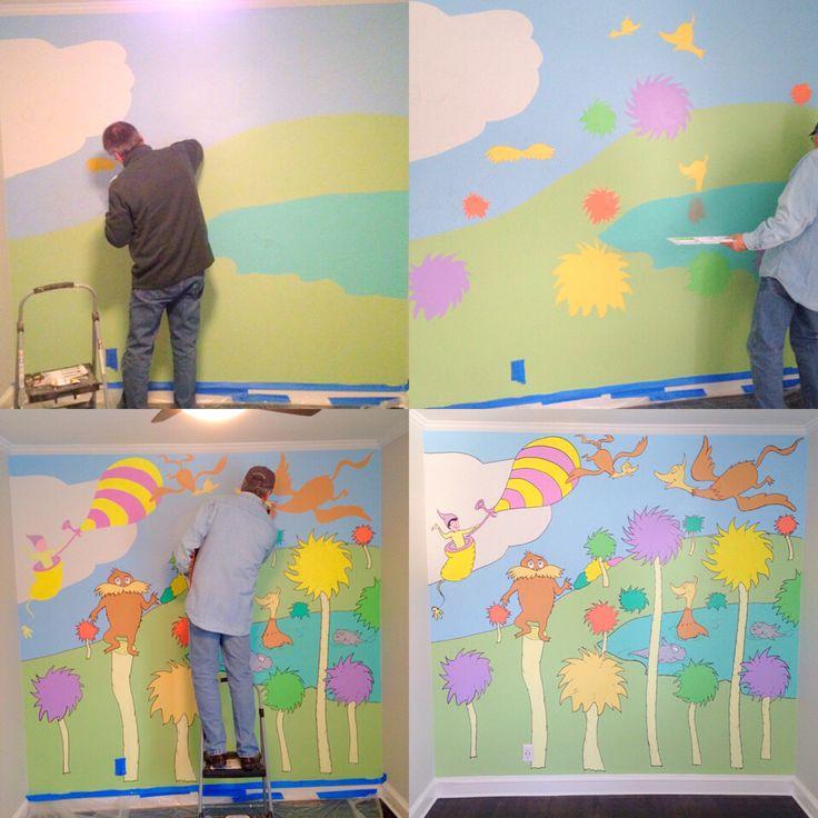 594 best dr suess images on pinterest dr seuss nursery for Dr seuss mural